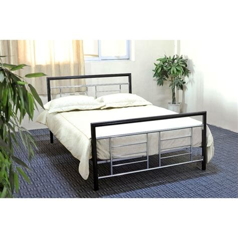 Black Metal Headboard And Footboard by Size Black Metal Platform Bed W Headboard Footboard