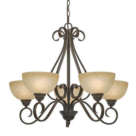 Home Depot Chandelier Shades Myers Collection 5 Light Peppercorn Chandelier 5675mppc The Home Depot