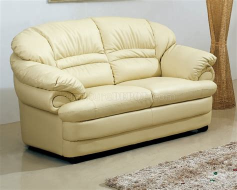 ivory leather loveseat s258 a sofa in ivory leather by pantek w options