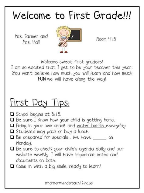 Parent Letter Beginning Of The Year This Letter Out At The Beginning Of The Year To Help