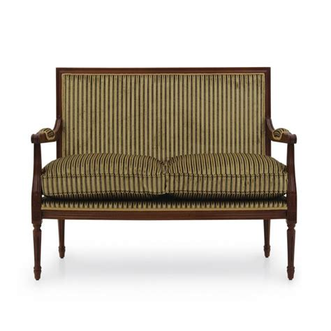 versailles sofa open arm square back french versailles style two seat sofa