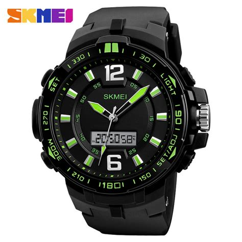 Jam Tangan Analog Crono skmei jam tangan analog digital pria 1273 black green jakartanotebook