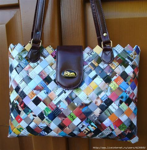 How To Make Beautiful Paper Bags - handbags from magazines how to make beautiful bags and