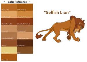 lions colors tlk quot selfish quot color ref by feralheartsfan on deviantart