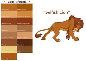 lions colors tlk quot selfish quot color ref by feralheartsfan on deviantart