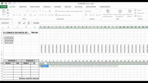 format excel jour de la semaine excel planning 1 4 cong 233 s automatis 233 fonctions choisir