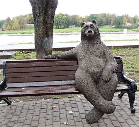 bears bench all russia russian culture