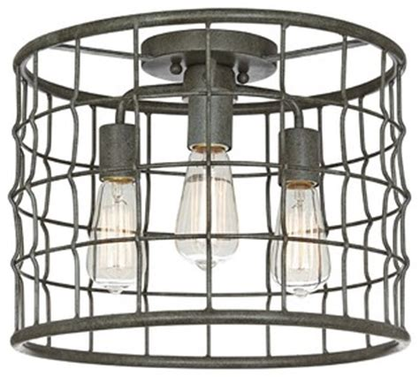 decor industrial lighting fixtures farmhouse bathroom ceiling light canada creative decoration dunmore industrial cage 15 quot wide galvanized ceiling light farmhouse flush mount ceiling