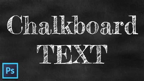 chalk text effect chalkboard background free font