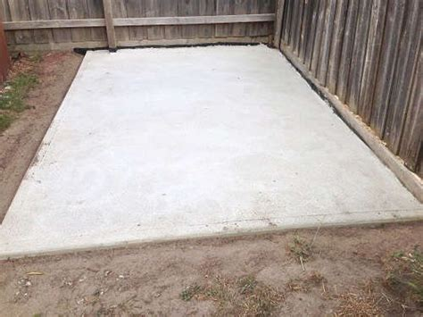 pour  concrete slab   shed home ideas diy