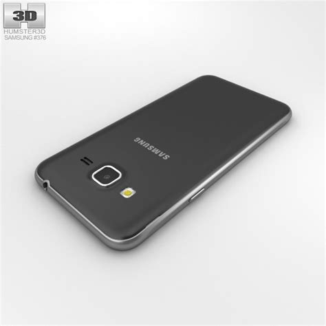 Samsung J3 Black samsung galaxy j3 2016 black 3d model humster3d