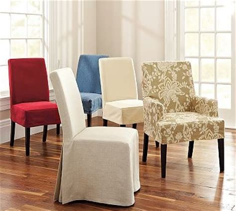 dining chair slipcovers pottery barn napa armchair slipcover short length denim blue
