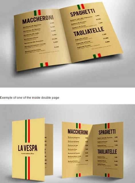 desain brosur tipografi 30 desain brosur restoran untuk promosi dan marketing