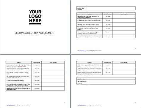 Risk Assessment Checklist Template Staruptalent Com Legionella Risk Assessment Template