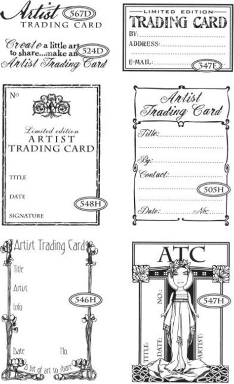 artist trading card back template top 2149 ideas about atc pocket letters on tim