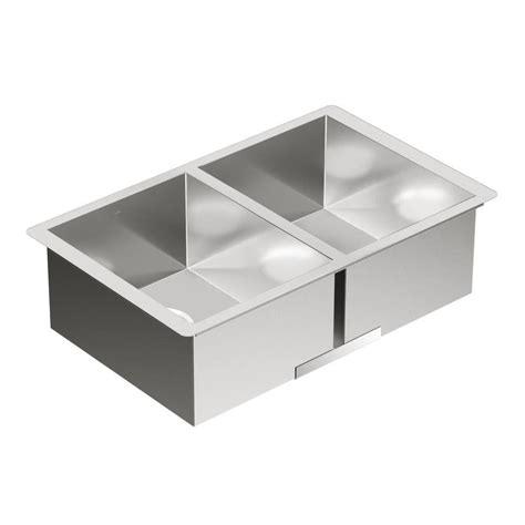 moen kitchen sinks undermount moen 1800 series undermount stainless steel 29 in
