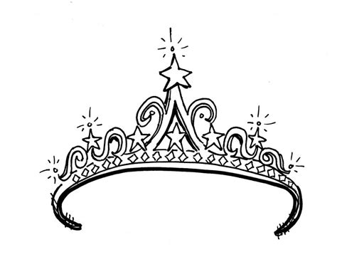 Drawings Of Crowns And Tiaras
