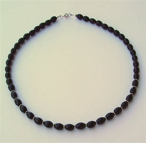 cristine jewelry black obsidian and silver necklace