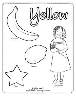 preschool yellow coloring pages color yellow journal colors pinterest color yellow