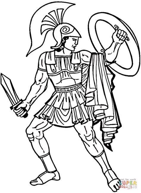 Ancient Greece Colouring Pages Greek Warrior Coloring Page Free Printable Coloring Pages by Ancient Greece Colouring Pages