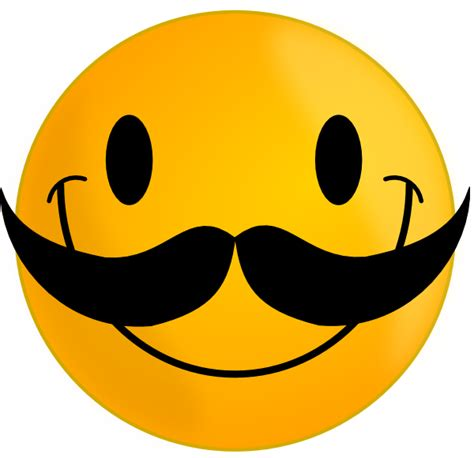 Smile Clipart Smile With Mustache Clip At Clker Vector Clip
