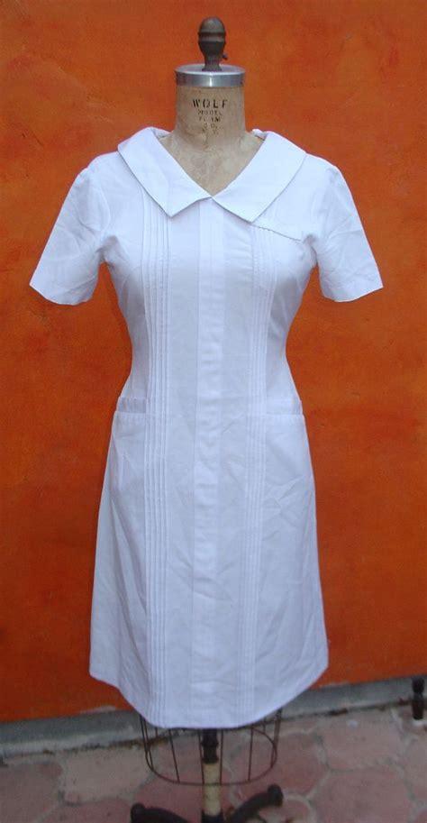 vintage  white nurses hospital uniform
