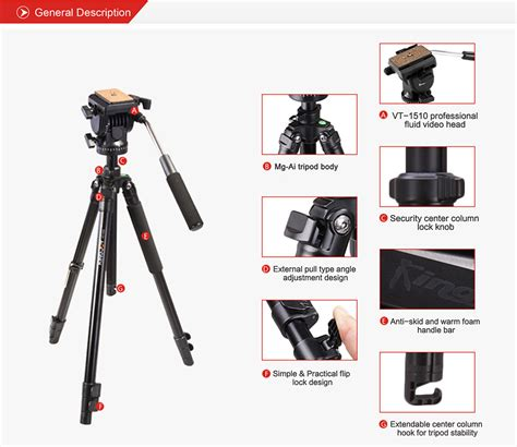 Tripod Kingjue Kingjoy Vt 1000 Black Light Kit kingjoy vt 1200 pro tripod kit kingjoy photographic equipment
