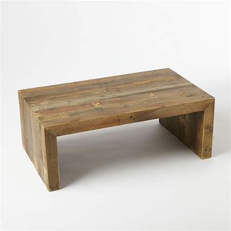 wood coffee table emmerson reclaimed wood coffee table west elm