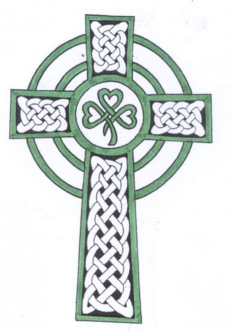 irish cross tattoo designs shamrock celtic cross design tattooshunt