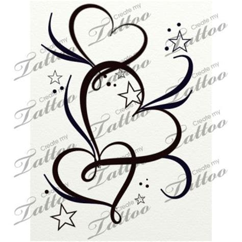 stars and heart tattoos designs gt gt market hearts and filigree 20764