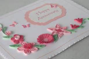 anniversary card quilling paper quilled folksy