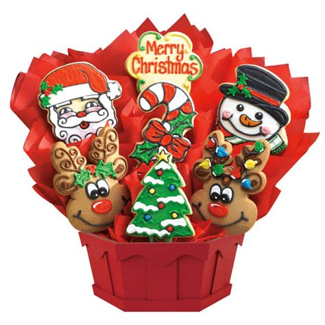 merry christmas cookie bouquet cookies by design