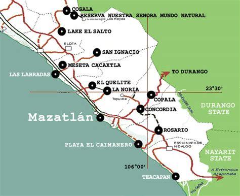 map of mexico sinaloa maps of mazatlan and surrounding rural sinaloa community