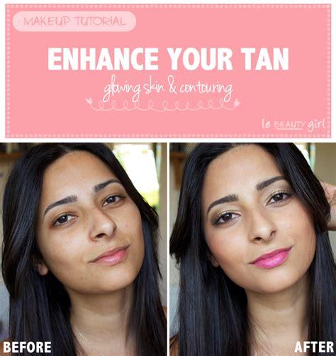 makeup tutorial tan skin enhance your tan glowing skin contouring makeup tutorial
