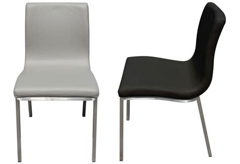 hnd dining chair brushed stainless steel frame