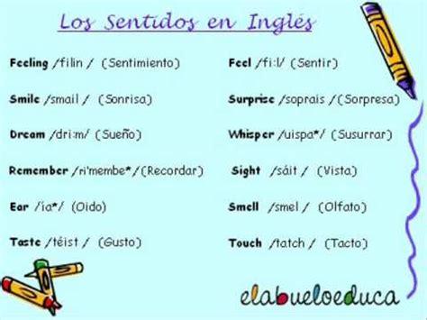 imagenes sensoriales en ingles aprende los sentidos en ingl 233 s con elabueloeduca youtube