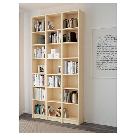 Billy Bookcase Birch Veneer 120x237x28 Cm Ikea Birch Bookshelves