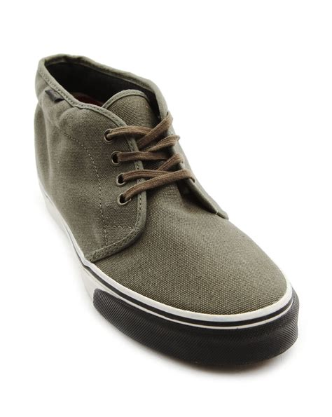 vans boots for vans chukka boot canvas sneakers in green for lyst