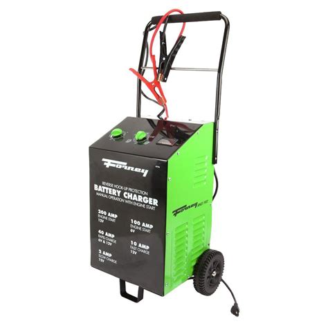forney battery charger forney 2 10 40 200 6 120 volt wheeled battery charger