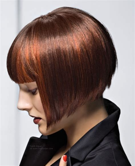 wedge haircut with stacked back stacked wedge haircut photos back view