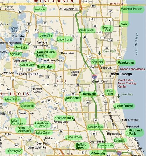 Lake County Il Property Records Lake County Illinois Map Images