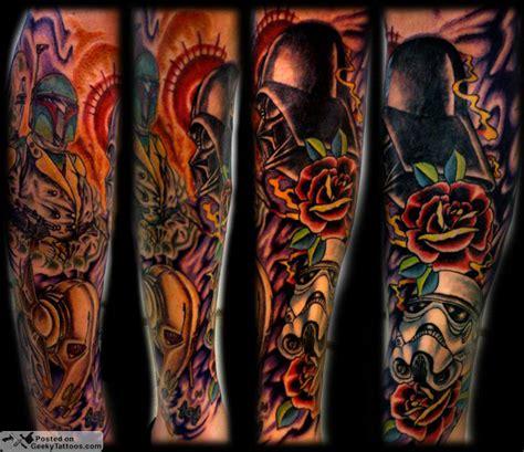 star wars tattoo sleeve geeky tattoos part 4