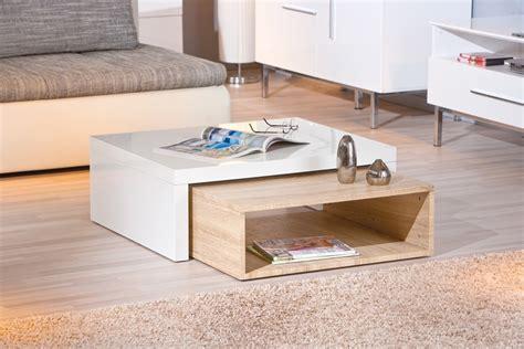 table basse bois blanc pas cher table de salon en
