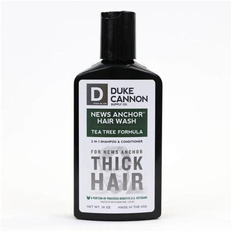 duke cannon news anchor 2 in 1 hair wash tea tree murphy