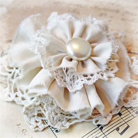 flower pin handmade from vintage materials i this