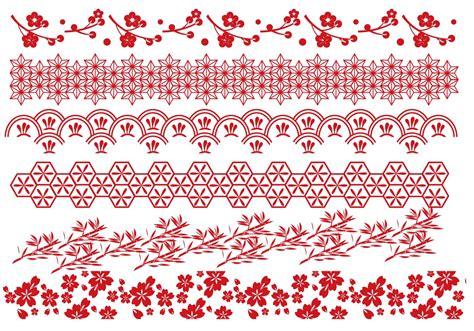 red japanese border vectors download free vector art