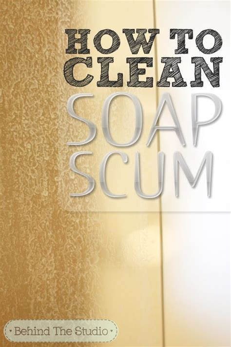 how to clean soap scum a glass shower door