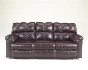 Burgundy Leather Reclining Sofa Kennard Burgundy Leather Contemporary Plush Reclining Sofa Loveseat Ebay