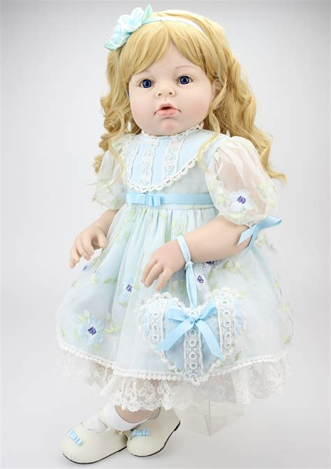 Baby Doll Denim Biru Tua new 70cm silicone reborn baby dolls accompany sleep reborn baby high grade