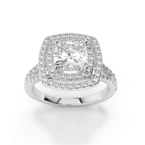 cushion cut engagement rings with no halo cushion halo engagement ring